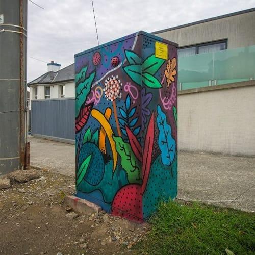 Murals by Niall O'Lochlainn seen at Thormanby Road, Dublin - 'Plantlife'
