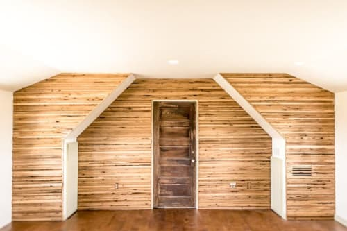 Wall Treatments by Joint Venture Woodworks seen at Private Residence, Fredericksburg - Accent Wall