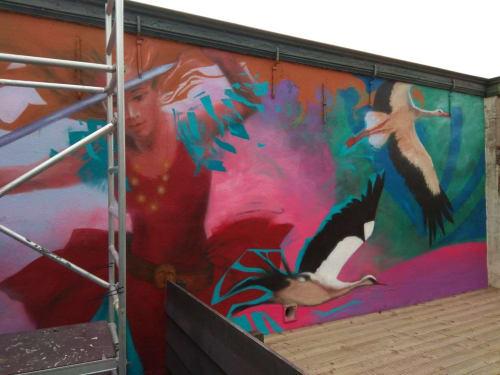 Murals by Laura9, Laura Tietjens seen at Goeree-Overflakkee - Wendelina