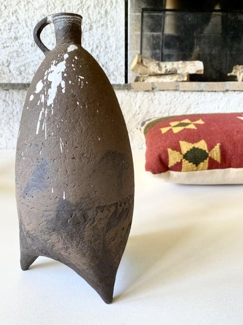 Interior Design by Hilde Mjolsnes Ceramics seen at Creator's Studio, Randaberg - Drips. Hand build Ceramics