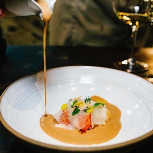 Tableware by Jono Pandolfi seen at Chefs Club, New York - Custom Coupe Bowl