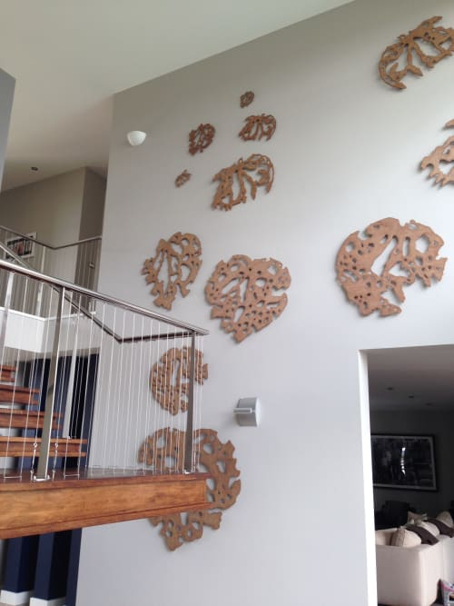 Sculptures by Liz McAuliffe seen at Private Residence, Auckland - Kawakawa sculptures