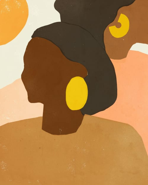 Paintings by Ashley Seil Smith seen at Private Residence, New York - Two women