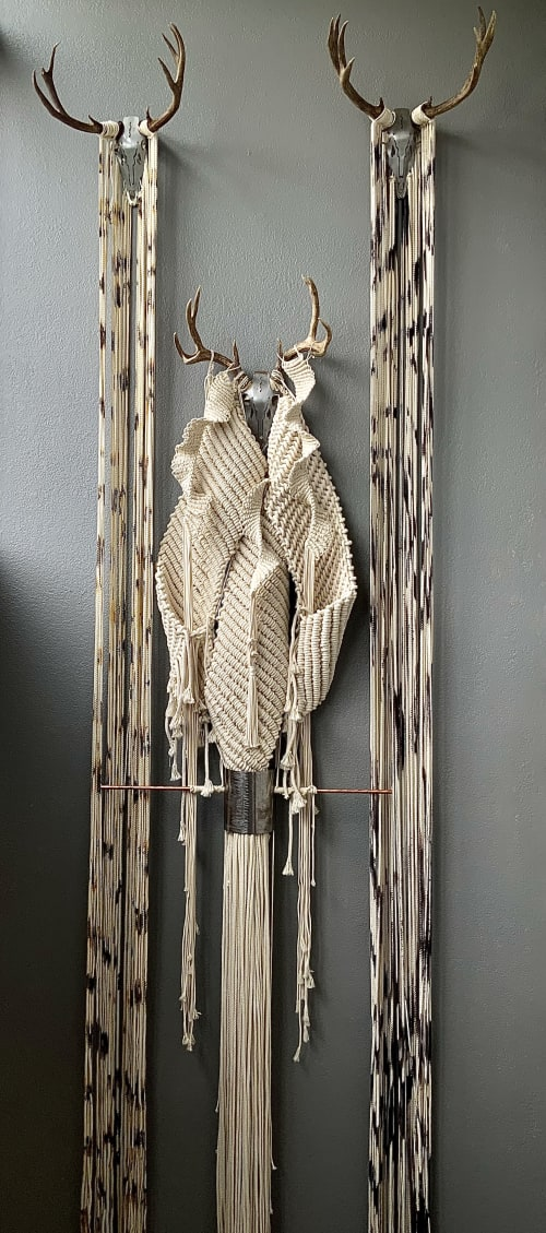 Macrame Wall Hanging by León Dragón seen at Private Residence, Verdi - 3D Jungle - Textile art installation