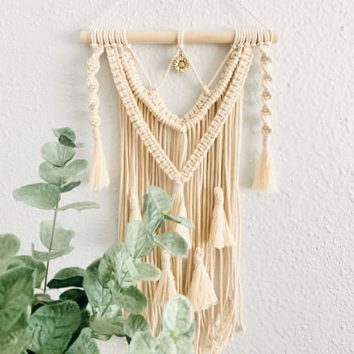 Macrame Wall Hanging by Love & Fiber seen at Private Residence, San Diego - Pet Memorial Macrame