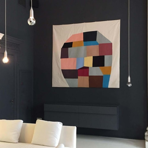 Art & Wall Decor by Sabine Finkenauer seen at Iberostar Las Letras Gran Vía, Madrid - Tapestry (Head)