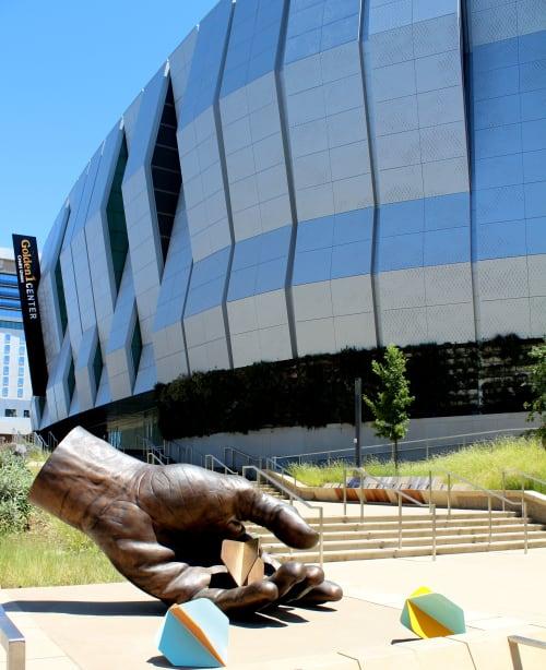 Public Sculptures by Gale Hart seen at Golden 1 Center, Sacramento - Missing the Mark