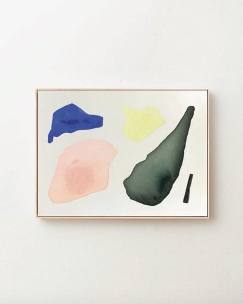 """Paintings by maja dlugolecki - summer of orange wine, 36"""" x 48"""""""