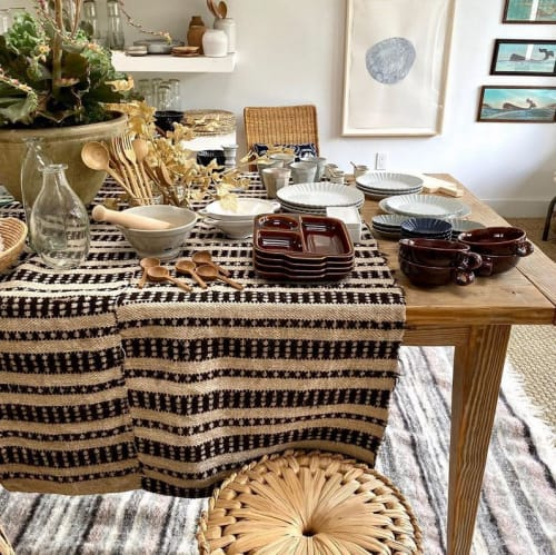 Ceramic Plates by Marumitsu Poterie seen at Westward Home, Larkspur - Varie segmented plate