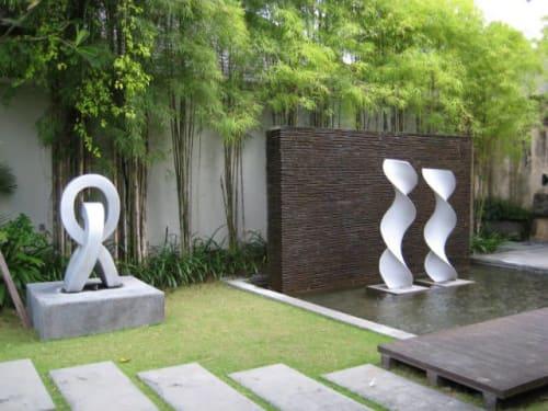Sculptures by Sun Yu-li seen at Ahimsa Estate - Sculpture
