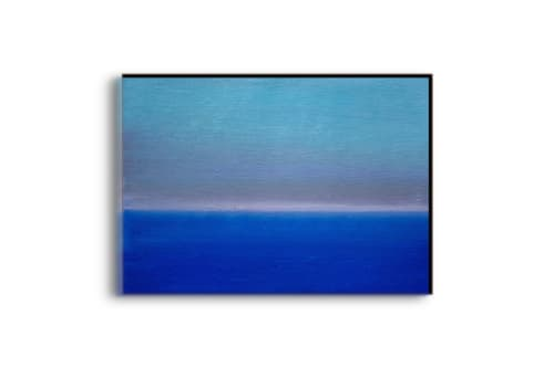 Paintings by Luca Raimondi seen at Private Residence, Sunderland - Abstract Blu#16