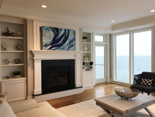 Paintings by Erin Clark's Art seen at Private Residence, Marblehead - Anatomy of a Wave no. 8