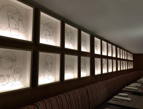 Art & Wall Decor by Leslie Ann Wigon Art & Design seen at Bluebird London NYC, New York - Wire Art and LED