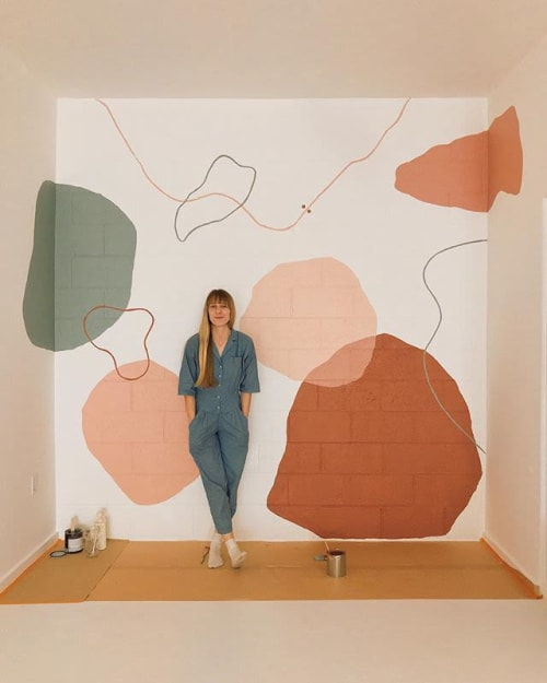 Murals by Tiffany Lusteg (Kindred + Copper) seen at Christina Sfez, San Diego - Abstract Interior Mural