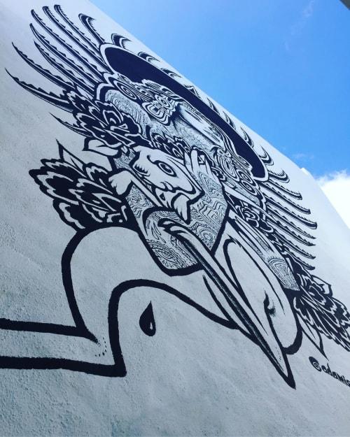 Murals by Adam Isaac Jackson seen at El Conejo Comida + Tequila., Sayulita - Mayahuel Mural