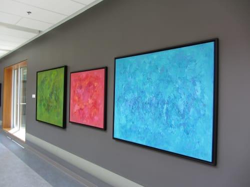 Paintings by Candace Wilson Art Studio seen at Peterborough Regional Health Centre, Peterborough - Chakra Healing Series
