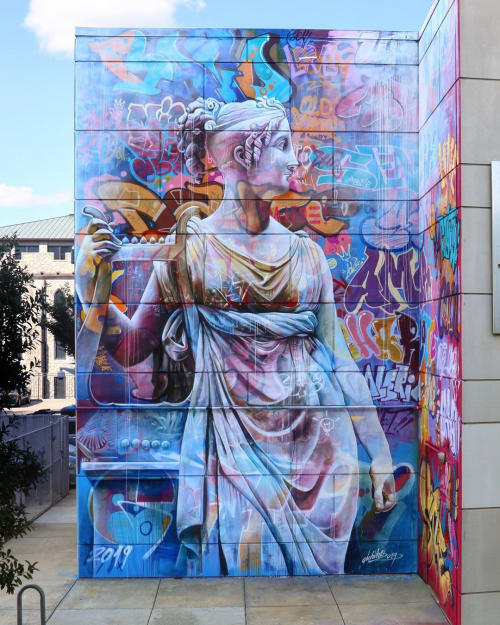 """Street Murals by PichiAvo seen at Charlotte, Charlotte - """"Delight in dancing"""""""
