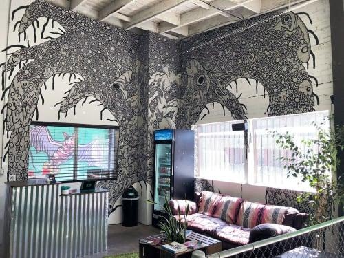 Murals by Miki Yokoyama seen at Print Renegades, Los Angeles - Untitled Mural (2018)