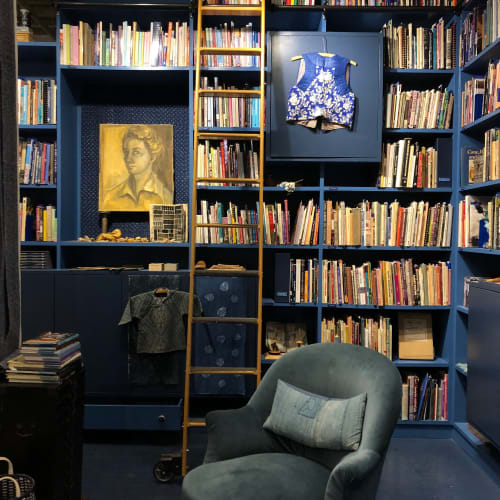 Interior Design by Tatter seen at Blue: The Tatter Textile Library, Brooklyn - Tatter Blue Library