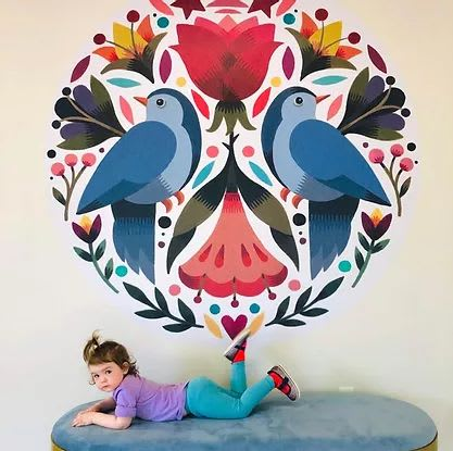 Murals by Maya Hanisch seen at District of Columbia - Mural in Two Birds