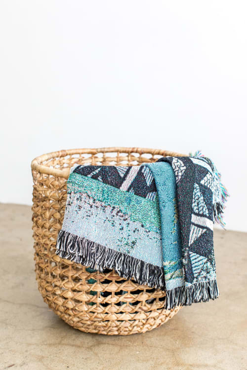 "Linens & Bedding by K'era Morgan seen at Creator's Studio, Los Angeles - ""Tiebele"" Woven Throw"