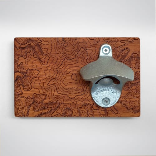 Furniture by SML | Simple Modern Living seen at Private Residence, Seattle - Mt Rainier Topography  |  Wall Mounted Bottle Opener