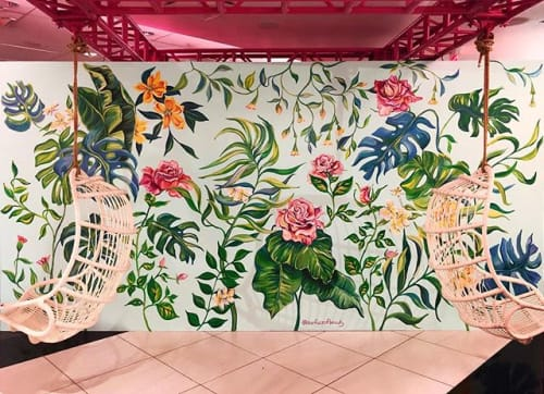 Murals by surface of beauty seen at Rosé Mansion, New York - Rosé Mansion mural