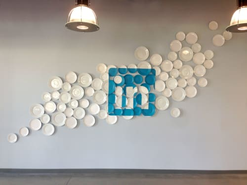Art & Wall Decor by ANTLRE - Hannah Sitzer seen at LinkedIn Sunnyvale, Sunnyvale - Linkedin Cafe art wall