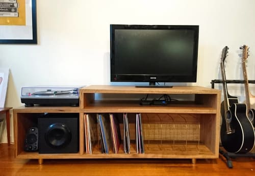 Furniture by Brett Julian Bespoke seen at Private Residence, North Melbourne - Media Cabinet
