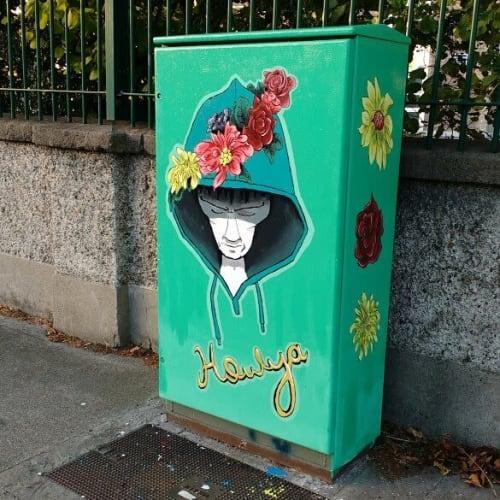 Street Murals by Collette Whyte seen at Ballyfermot Road, Dublin - Howya