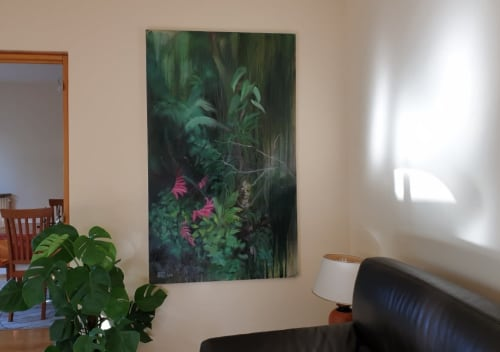 Paintings by Art by Bgr / Benedicte Grange Rogulski seen at Private Residence - Rainforest with flowers