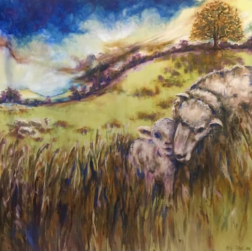 Paintings by Becky O'Neal seen at Private Residence, Alexandria - Blessing in the Fields