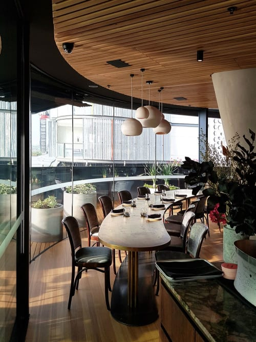 Pendants by Studio Enti seen at Barangaroo House, Barangaroo - Orb Lights
