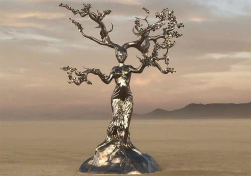 Public Sculptures by Michael Benisty seen at Black Rock Desert - Sacred Grounds