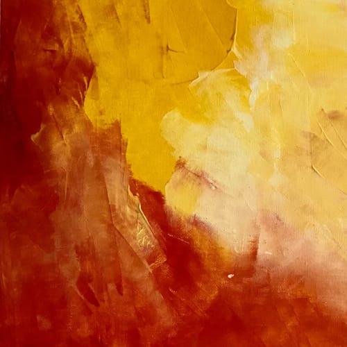 Paintings by sorayart - sorayacaballero seen at Private Residence, Mexico City - Red