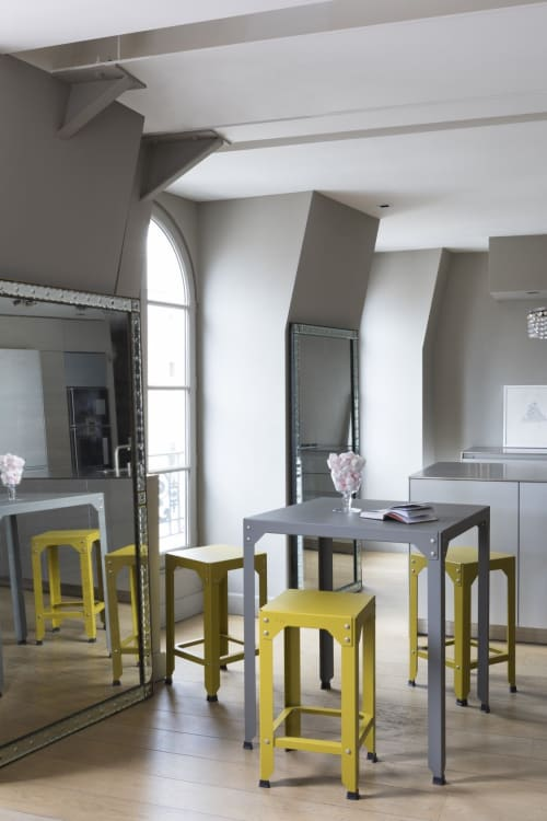Tables by MATIERE GRISE seen at Private Residence, Lyons, Lyon - Hégoa Square High Bar and Stool