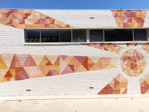 Murals by Hang With Me Studios by Sarana Haeata seen at La Cabaña - Bar and Taqueria, South Fremantle - Shining Sun Mural at La Cabaña, Fremantle WA
