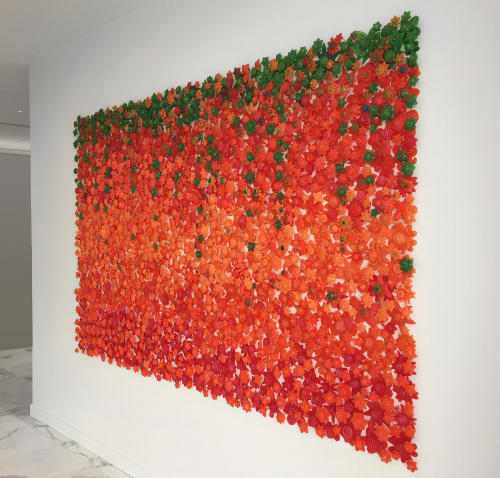 Art & Wall Decor by Carson Fox Studio seen at Kirkland & Ellis LLP, San Francisco - Tangerine Garden
