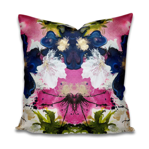 Pillows by Amanda M Moody seen at Private Residence, Charlotte - stoned immaculate pillows and textiles by the yard