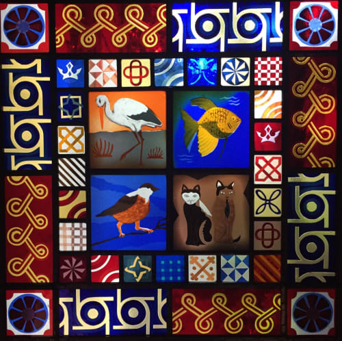 Medieval Animals   Art & Wall Decor by Kate Gakenheimer Stained Glass