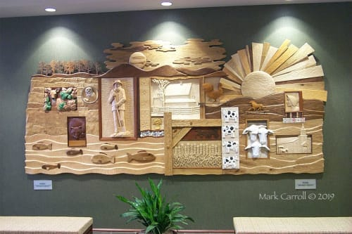 Murals by The Sculpture Studio LLC seen at Lansdale, Lansdale - Trefoil Mural