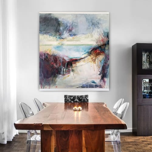 Paintings by Lynne Buchanan Abstract Art seen at Private Residence, Dallas - Winter Canyons