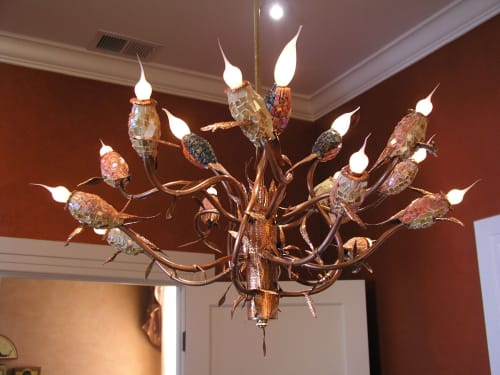 Chandeliers by Mark Steele seen at Private Residence, San Francisco - Sparrows Chandelier