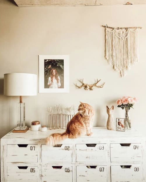 Macrame Wall Hanging by Black Sage Decor seen at Private Residence, Nashville - River edge