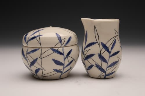 Tableware by Amy Halko Ceramics at Private Residence, Missoula - cream and sugar