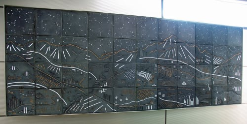 Public Mosaics by Jason Messinger Art seen at Illinois Medical District, Chicago - Vista