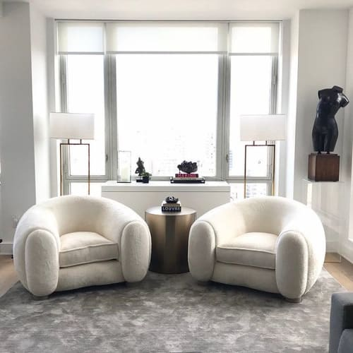 Chairs by Edition Modern seen at Private Residence, New York - POLAR armchair