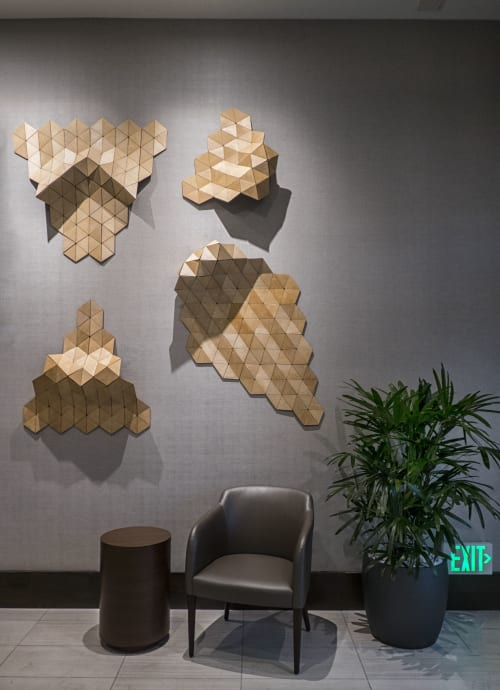 Sculptures by Susannah Mira seen at AC Hotel by Marriott Beverly Hills, Los Angeles - Curls
