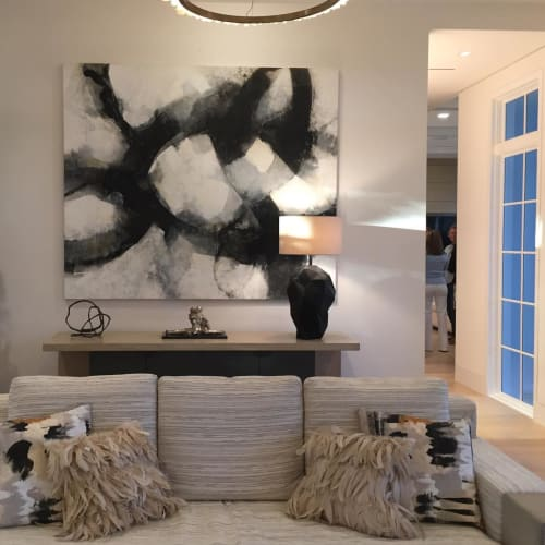 Paintings by Doug Kennedy seen at Private Residence, Delray Beach - Composition 9