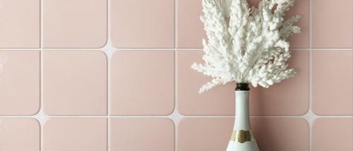 "Tiles by PIETTA DONOVAN seen at Walker Zanger Tile & Stone, New York - The Pietta Donovan Collection- ""Matilda"" Handmade Ceramic tile at Walker Zanger"